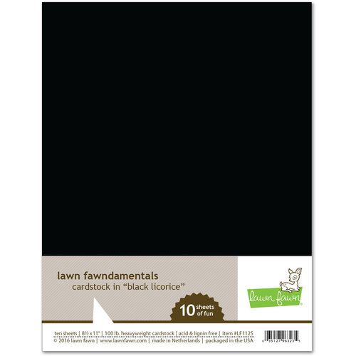 Lawn Fawn Black Licorice Cardstock Pack