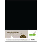 Lawn Fawn - 8.5 x 11 Cardstock - Black Licorice - 10 Pack