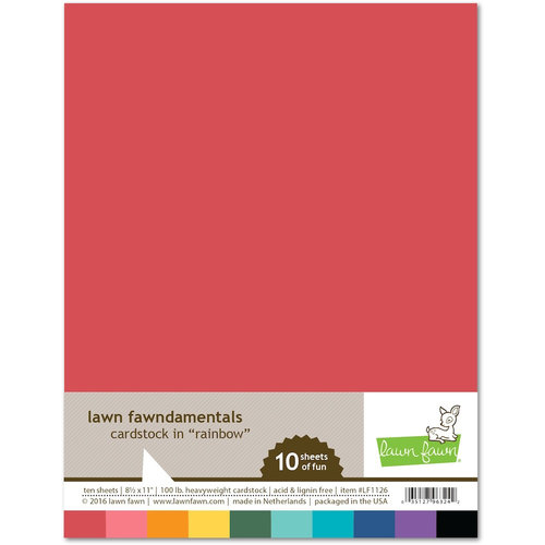 8.5 by 11 Cardstock Sheets- Rainbow Colors
