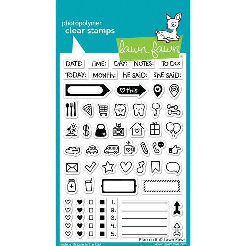 Lawn Fawn - Clear Acrylic Stamps - Plan On It