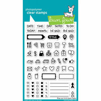 Lawn Fawn - Clear Photopolymer Stamps - Plan On It