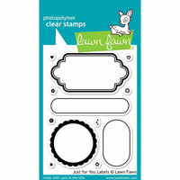 Lawn Fawn - Clear Photopolymer Stamps - Just for You Labels