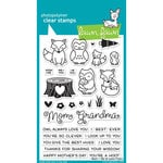 Lawn Fawn - Clear Acrylic Stamps - Mom and Me