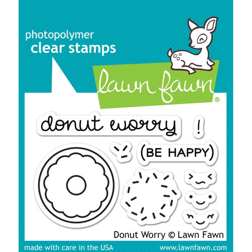 Lawn Fawn - Clear Photopolymer Stamps - Donut Worry