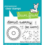 Lawn Fawn - Clear Acrylic Stamps - Donut Worry