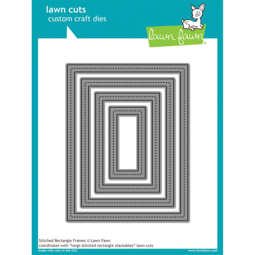 Lawn Fawn - Lawn Cuts - Dies - Stitched Rectangle Frames