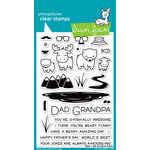 Lawn Fawn - Clear Acrylic Stamps - Dad and Me