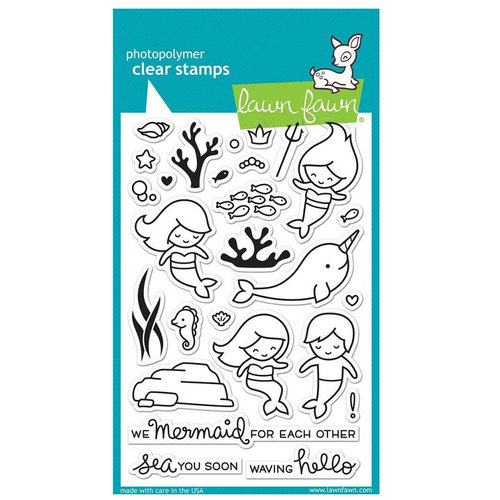 Lawn Fawn - Clear Photopolymer Stamps - Mermaid for You