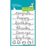 Lawn Fawn - Clear Acrylic Stamps - Big Scripty Words