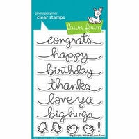 Lawn Fawn - Clear Photopolymer Stamps - Big Scripty Words