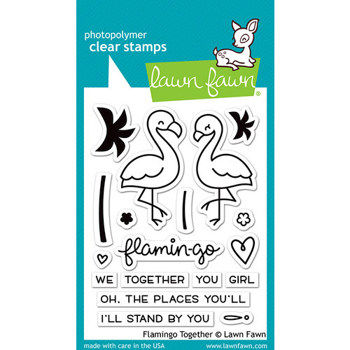Lawn Fawn - Clear Photopolymer Stamps - Flamingo Together