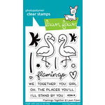Lawn Fawn - Clear Acrylic Stamps - Flamingo Together