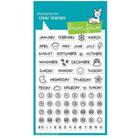 Lawn Fawn - Clear Acrylic Stamps - Plan on It - Calendar