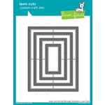 Lawn Fawn - Lawn Cuts - Dies - Large Cross Stitched Rectangle Stackables