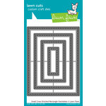 Lawn Fawn - Lawn Cuts - Dies - Small Cross Stitched Rectangle Stackable