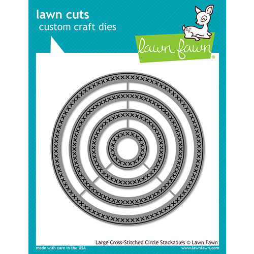 Lawn Fawn Large Cross-stitched Circle Stackables