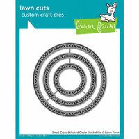 Lawn Fawn - Lawn Cuts - Dies - Small Cross Stitched Circle Stackables