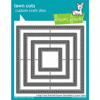 Lawn Fawn - Lawn Cuts - Dies - Large Cross Stitched Square Stackables