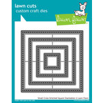 Lawn Fawn - Lawn Cuts - Dies - Small Cross Stitched Square Stackables