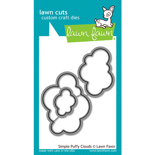 Lawn Fawn - Lawn Cuts - Dies - Simple Puffy Clouds
