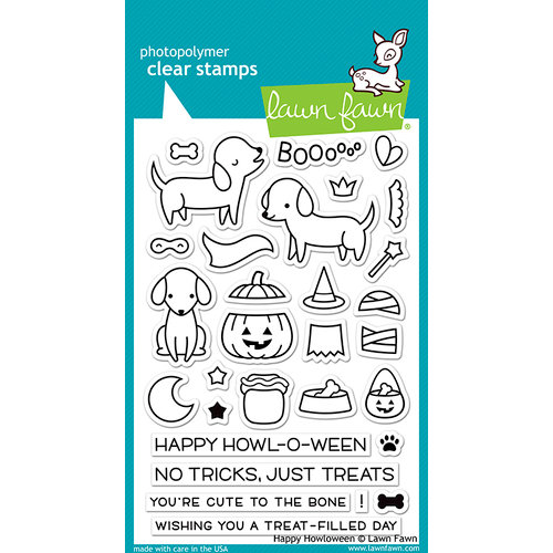 Lawn Fawn - Clear Acrylic Stamps - Happy Halloween