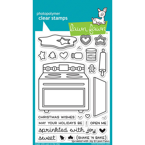 Lawn Fawn - Clear Photopolymer Stamps - Sprinkled With Joy