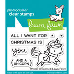Lawn Fawn - Christmas - Clear Acrylic Stamps - Winter Unicorn