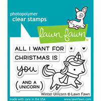 Lawn Fawn - Christmas - Clear Photopolymer Stamps - Winter Unicorn