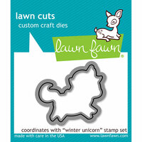 Lawn Fawn - Christmas - Lawn Cuts - Dies - Winter Unicorn