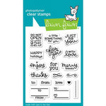 Lawn Fawn - Clear Acrylic Stamps - Tiny Tag Sayings