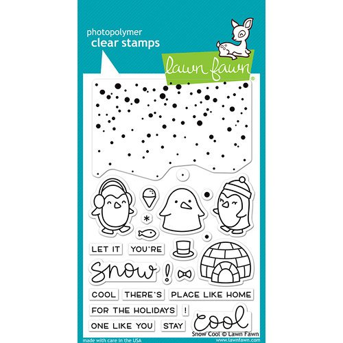 Lawn Fawn - Clear Photopolymer Stamps - Snow Cool