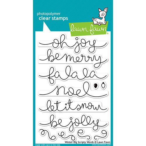 Lawn Fawn - Clear Photopolymer Stamps - Winter Big Scripty Words