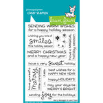 Lawn Fawn - Clear Acrylic Stamps - Merry Messages