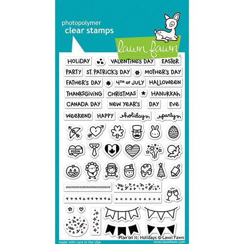 Lawn Fawn - Clear Photopolymer Stamps - Plan On It - Holidays