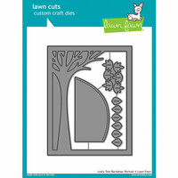 Lawn Fawn - Lawn Cuts - Dies - Portrait Leafy Tree Backdrop