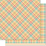 Lawn Fawn - Perfectly Plaid Collection - Fall - 12 x 12 Double Sided Paper - Maple Syrup