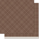 Lawn Fawn - Perfectly Plaid Collection - Fall - 12 x 12 Double Sided Paper - Cinnamon Spice