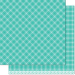 Lawn Fawn - Perfectly Plaid Collection - Fall - 12 x 12 Double Sided Paper - Iced Latte