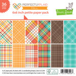 Lawn Fawn - Perfectly Plaid Collection - Fall - 6 x 6 Petite Paper Pack