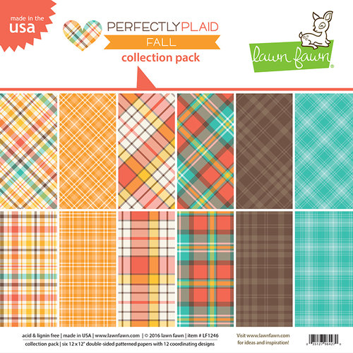 Lawn Fawn - Perfectly Plaid Collection - Fall - 12 x 12 Collection Pack