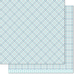 Lawn Fawn - Perfectly Plaid Collection - Winter - 12 x 12 Double Sided Paper - Polar Bear