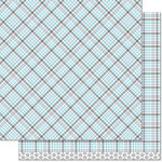 Lawn Fawn - Perfectly Plaid Collection - Winter - 12 x 12 Double Sided Paper - Walrus