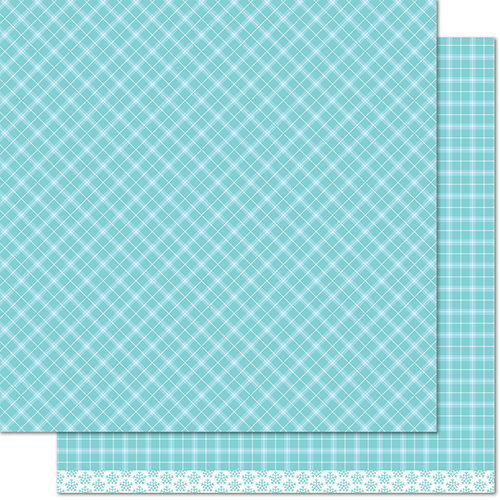 Lawn Fawn - Perfectly Plaid Collection - Winter - 12 x 12 Double Sided Paper - Snowy Owl