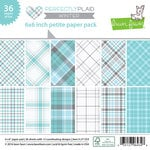 Lawn Fawn - Perfectly Plaid Collection - Winter - 6 x 6 Petite Paper Pack