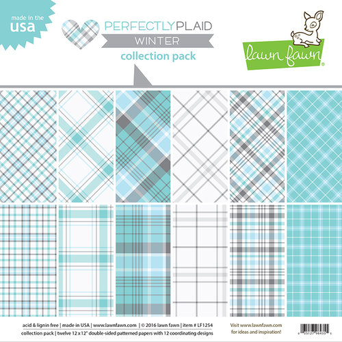 Lawn Fawn - Perfectly Plaid Collection - Winter - 12 x 12 Collection Pack
