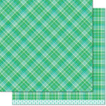 Lawn Fawn - Perfectly Plaid Collection - Christmas - 12 x 12 Double Sided Paper - Prancer