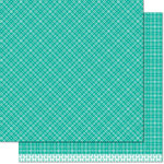 Lawn Fawn - Perfectly Plaid Collection - Christmas - 12 x 12 Double Sided Paper - Blitzen