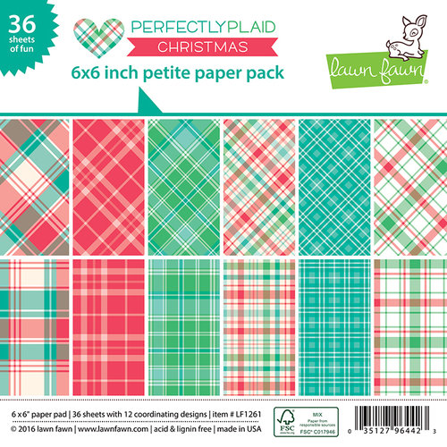 Lawn Fawn Perfectly Plaid Christmas Paper Pack