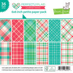 Lawn Fawn - Perfectly Plaid Collection - Christmas - 6 x 6 Petite Paper Pack