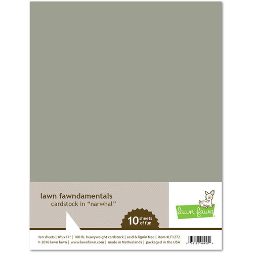 Lawn Fawn 10 pack Narwhal Cardstock